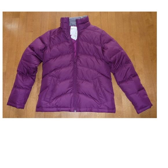 a40a27348 LANDS END Wine Grape Down Jacket Coat Size XS 2/4 NWT